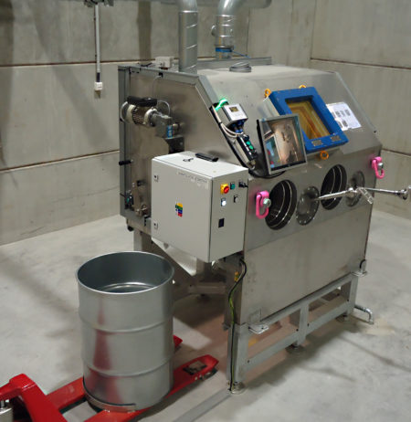 central system for collection storage and release of liquid radioactive waste