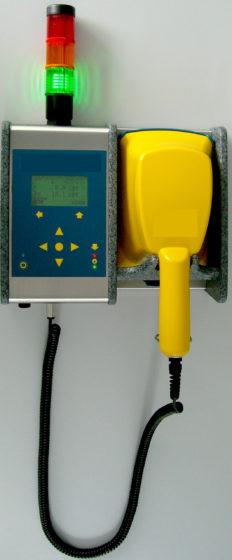 A stationary contamination monitor