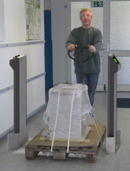 Pallet portal monitor with plastic scintillation detectors