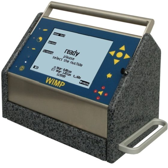 A single wipe test counter for radiations
