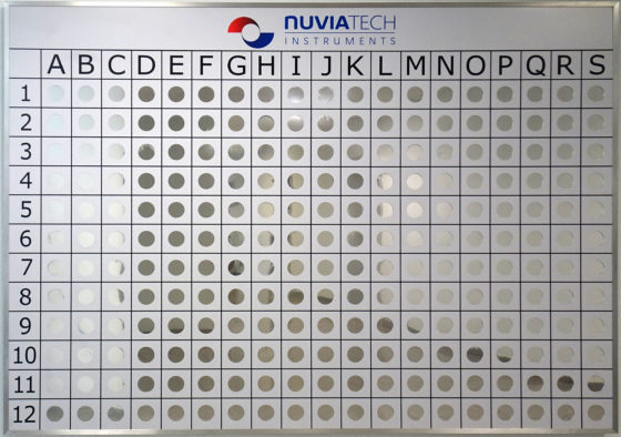 Interactive wall for staff training on radioactive source identification
