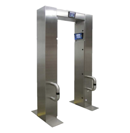 A stainless-steel portal monitor with large plastic scintillation detectors